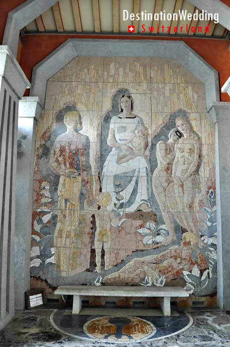 Mural in the covered area